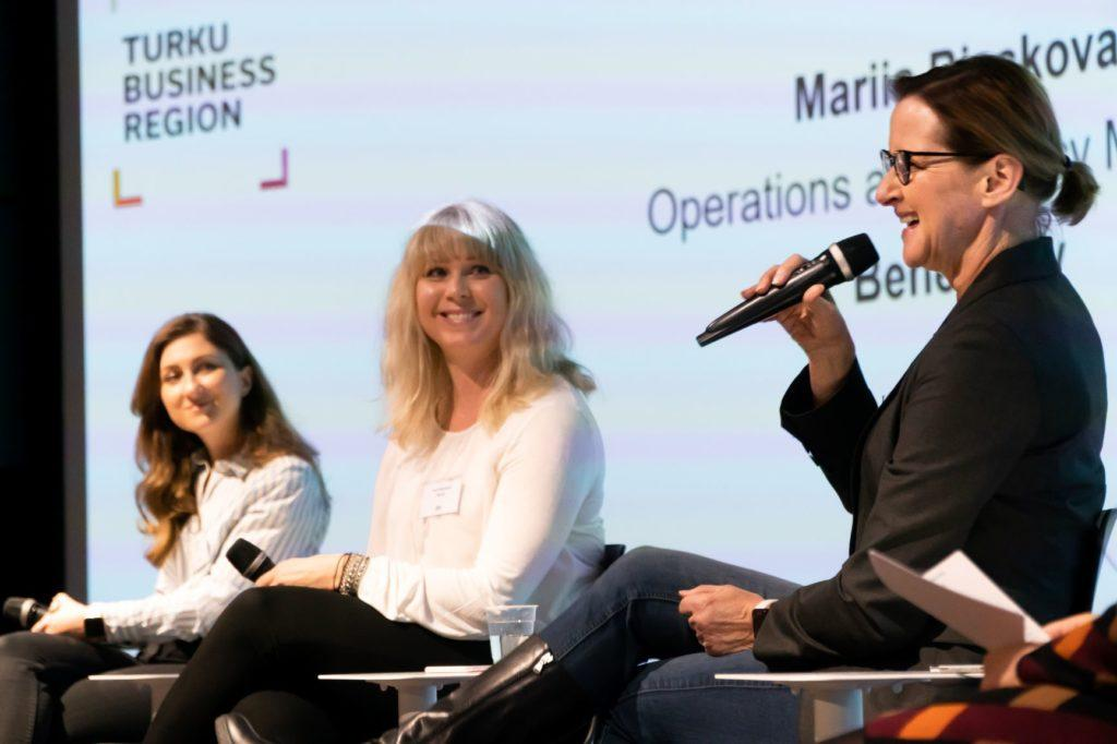 The highlight of Talent Boost Breakfast was a panel discussion on added value to the workplace from cultural diversity. Photo: Makoto Chiba
